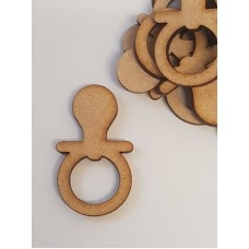MDF Baby Dummy 4cm/40mm x 3mm - Laser cut wooden shape
