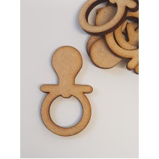MDF Baby Dummy 5cm/50mm x 3mm - Laser cut wooden shape