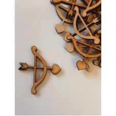 MDF Cupid Arrow 3cm/30mm x 3mm - Laser cut wooden shape