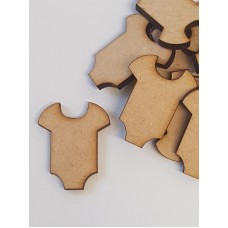 MDF Baby Vest 3cm/30mm x 3mm - Laser cut wooden shape