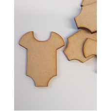 MDF Baby Vest 5cm/50mm x 3mm - Laser cut wooden shape