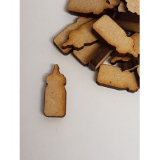 MDF Baby Bottle 2cm/20mm x 3mm - Laser cut wooden shape