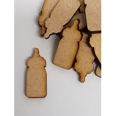 MDF Baby Bottle 3cm/30mm x 3mm - Laser cut wooden shape