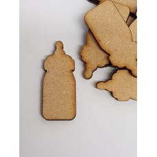 MDF Baby Bottle 4cm/40mm x 3mm - Laser cut wooden shape