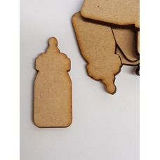 MDF Baby Bottle 5cm/50mm x 3mm - Laser cut wooden shape