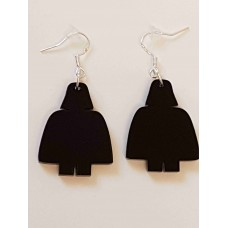Lego Darth Vader Silhouette Earrings - Acrylic