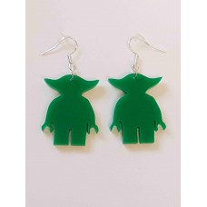 Lego Yoda Silhouette Earrings - Acrylic