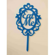 Eat Me in Frame Cake Topper - Acrylic