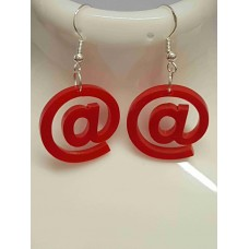 AT @ symbol Earrings - Acrylic