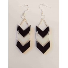 Chevron Pattern Earrings - Acrylic
