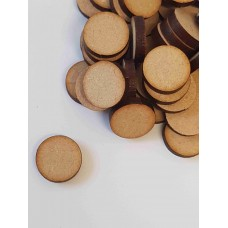 MDF Circle Round 1.5cm/15mm x 3mm - Laser cut wooden shape
