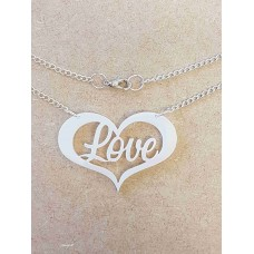 Love in a Heart Necklace - Acrylic
