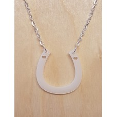 Horseshoe Heart Necklace - Acrylic