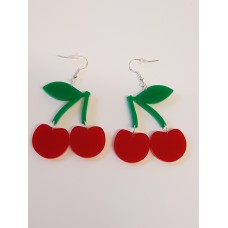 Cherries Fruity Earrings - Acrylic