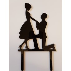 Engagement couple Cake Topper - Acrylic