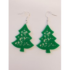 Christmas Tree Earrings - Acrylic