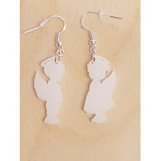 Christmas Boy Girl Angel Earrings - Acrylic