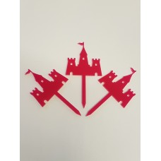 Fairytale Castle Cupcake Toppers x 3 - Acrylic