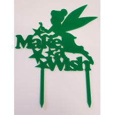 Fairy Make A Wish Cake Topper - Acrylic