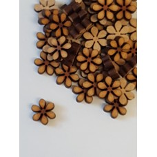 MDF Flower D 1cm/10mm x 3mm - Laser cut wooden shape
