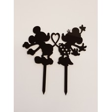 Mickey and Minnie Inspired Cake Topper - Acrylic