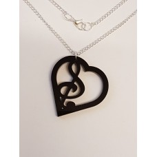Music of the Heart Necklace - Acrylic
