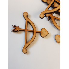 MDF Cupid Arrow 5cm/50mm x 3mm - Laser cut wooden shape