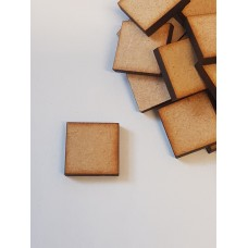 MDF Square 1.5cm/15mm x 3mm - Laser cut wooden shape