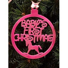 Acrylic Christmas Xmas Bauble Baby's First Christmas