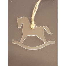 Acrylic Christmas Xmas Bauble Rocking Horse